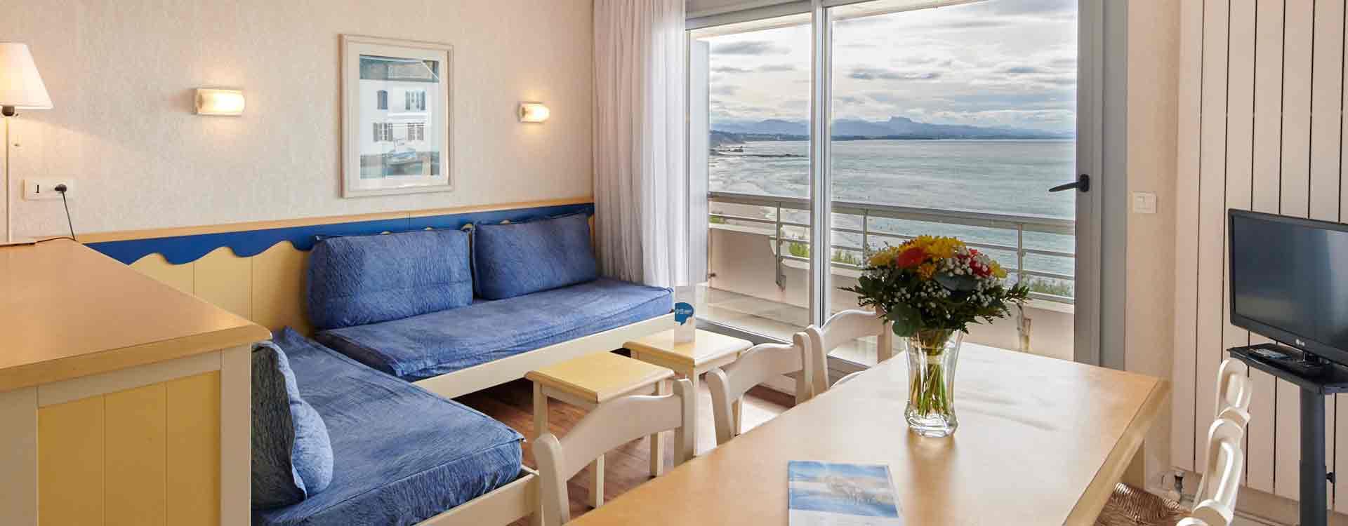 appartement vue mer biarritz