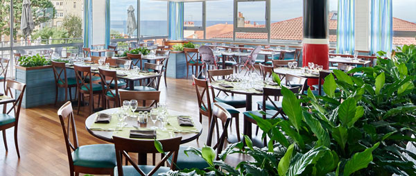 restaurant vue mer pour reception biarritz