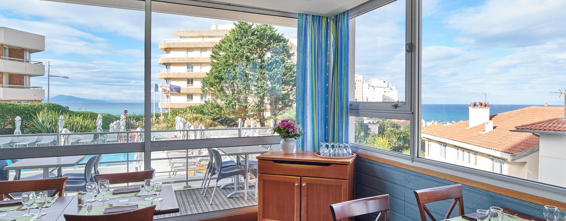 restaurant vue mer biarritz