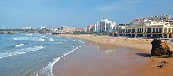 plage cote basque biarritz