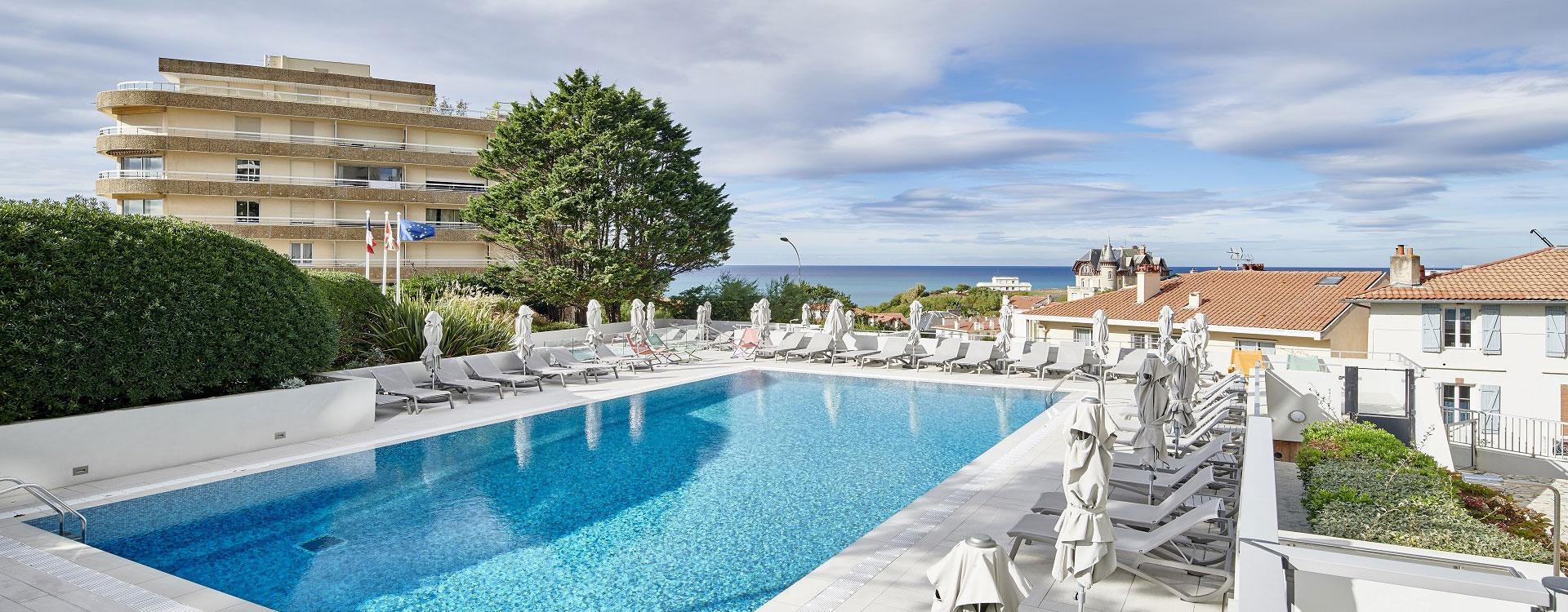 piscine residence grand large biarritz