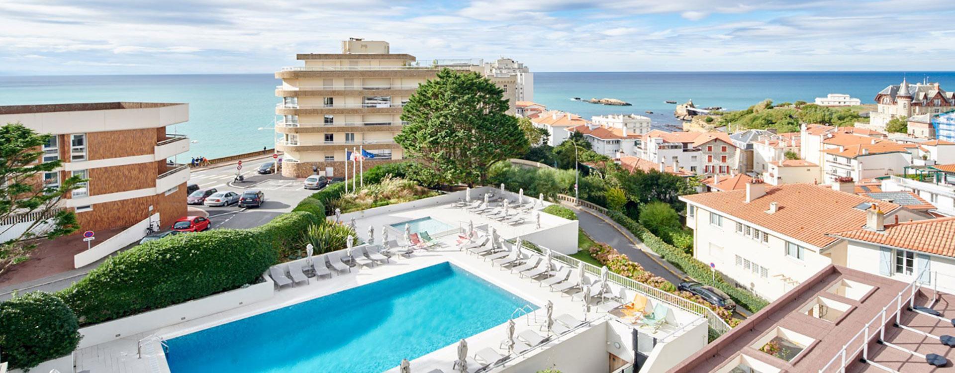 piscine vue mer - biarritz
